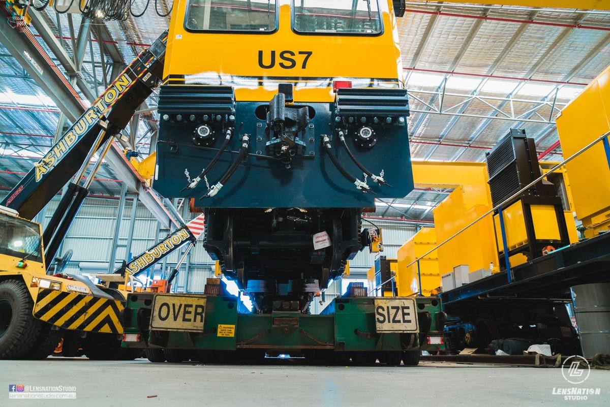 Speno US7 Rail Maintenance Lensnation industrial photography