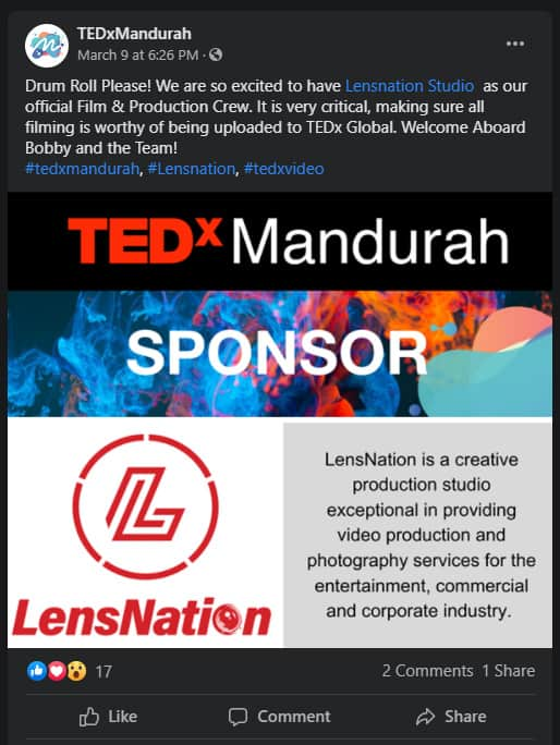 TedXmandurah production Lensnation