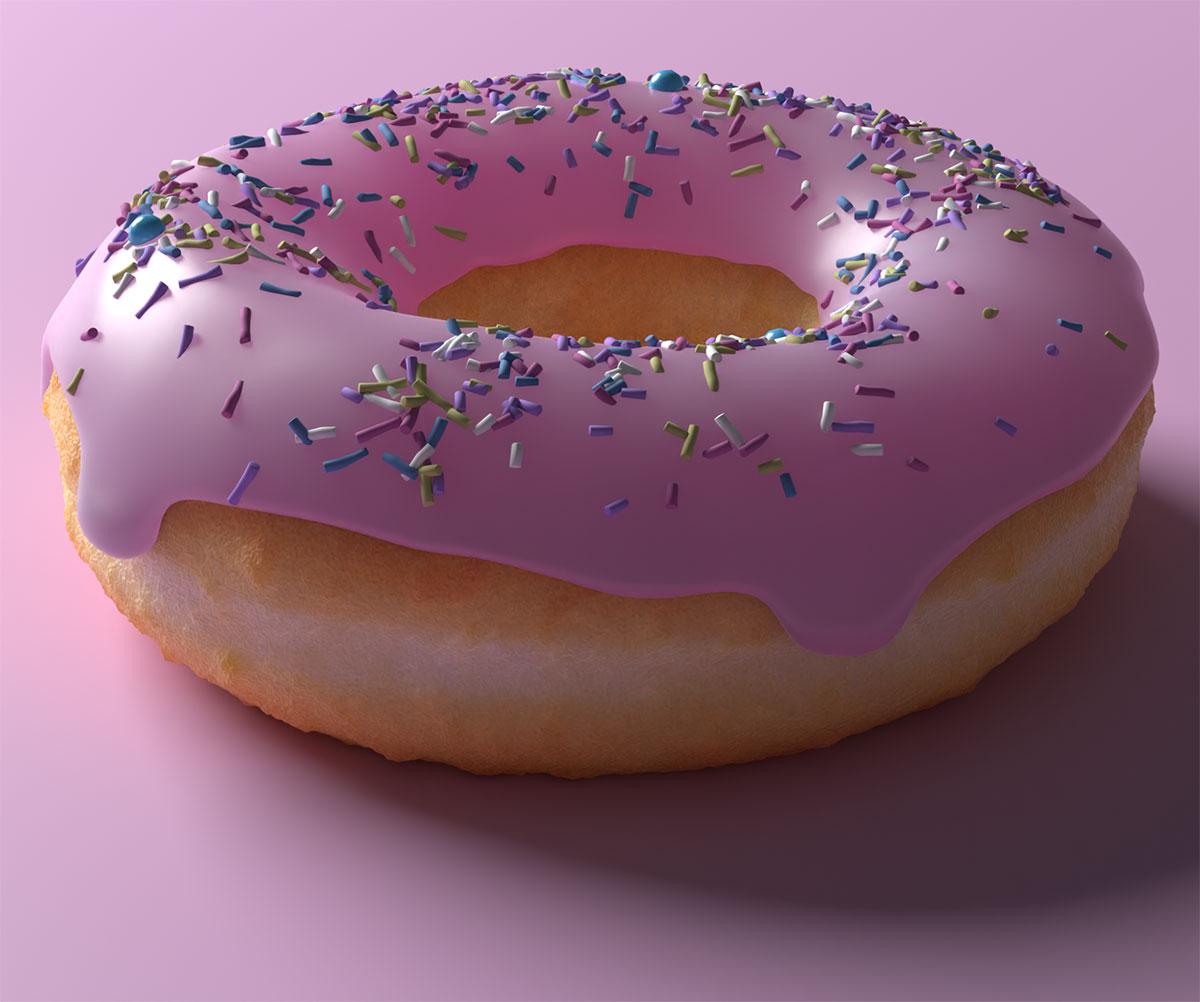 Blender Andrew Price Finished Donut in 3D