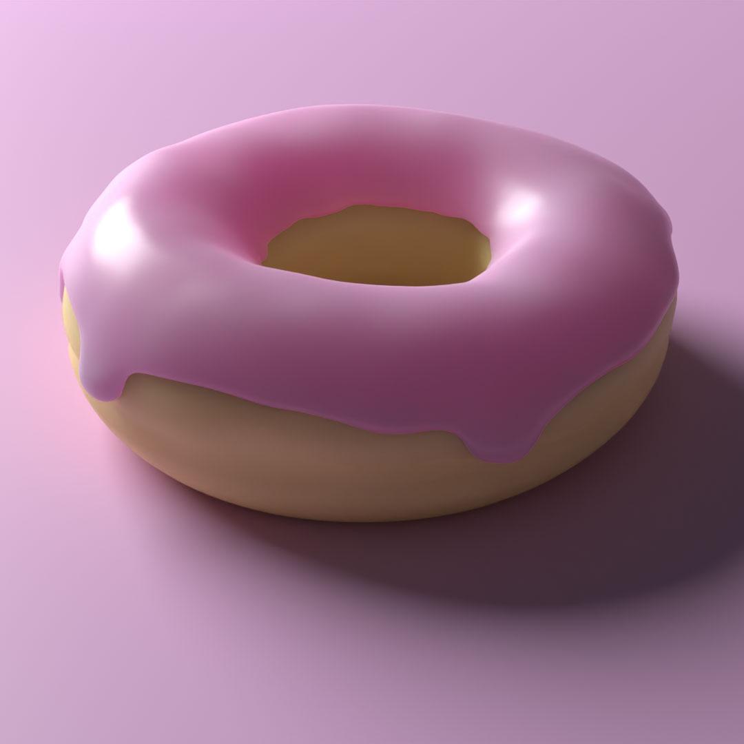 Blender Andrew Price Donut progress in 3D