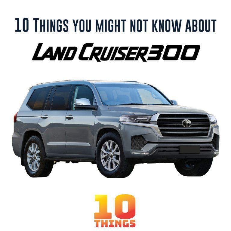 10 things you might not know about toyota landcruiser 300