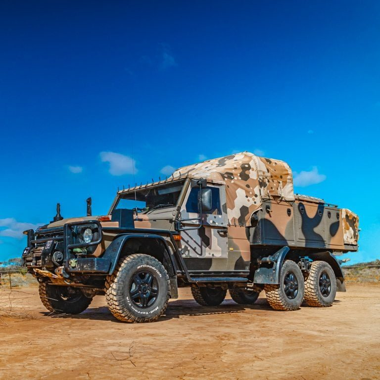 Australian Military G-Wagon Fleet Photography
